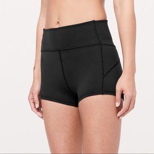 "Black Lululemon In Movement Everlux Shorts 2.5"""